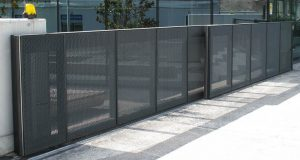 Secure fence and access gate located in Columbia for commercial and business property